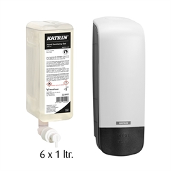 Katrin Desinfektion 80% Gel 6x1 ltr. inkl. dispenser
